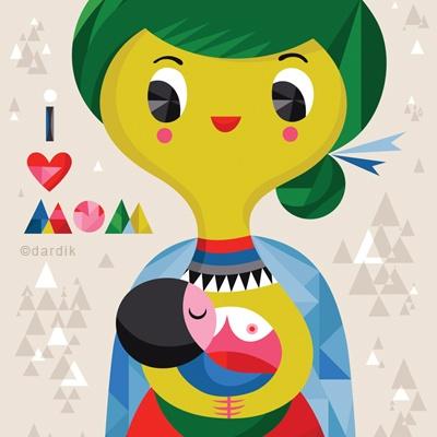 @helen dardik does it again! so lovely.: Helendardik, Love Illustrations, Hélène Dardik, Illustrations Helen, Affich Mom, Originals Illustrations, Love Mom Illustrations, I Love Mom, Helen Dardik