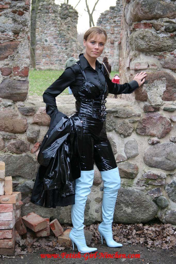 Blue Leather Jacket Womens
