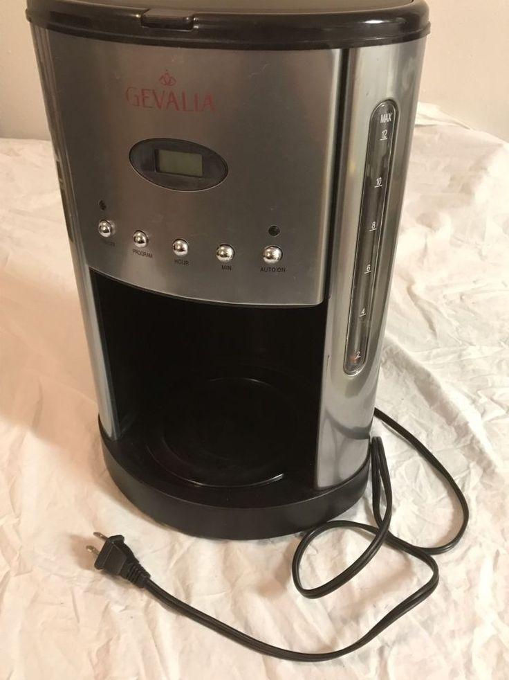 GEVALIA 12 Cup Coffee Maker Tested Model CM500 Works  | eBay