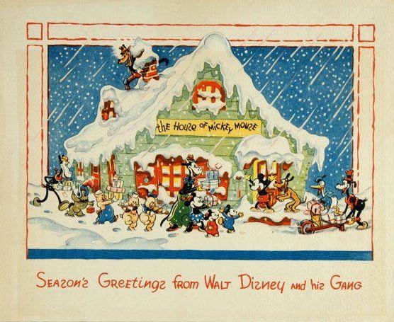 Disney Christmas card: Vintage Christmas Cards, Vintage Disney, Disney Christmas, Blog Xmas, Walt Disney, 1935 Cardjpg, Cardjpg Image, Cards Jpg Image, 1935 Cards Jpg