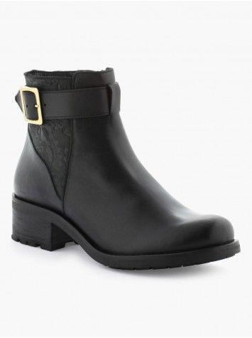 Boots En Cuir Petit Talon Cranté Lh By La Halle - La Halle