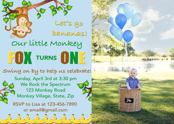 Best 25 Monkey invitations ideas – Monkey Birthday Invitations
