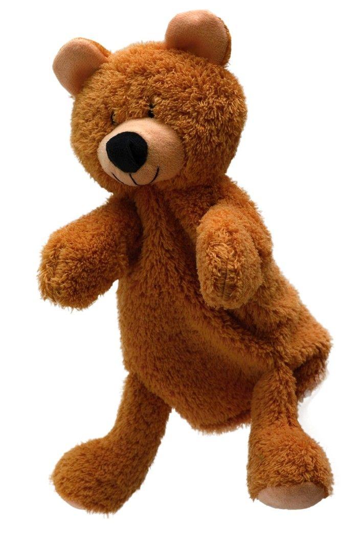 Maňásek na ruku s nohama - Medvídek béžový