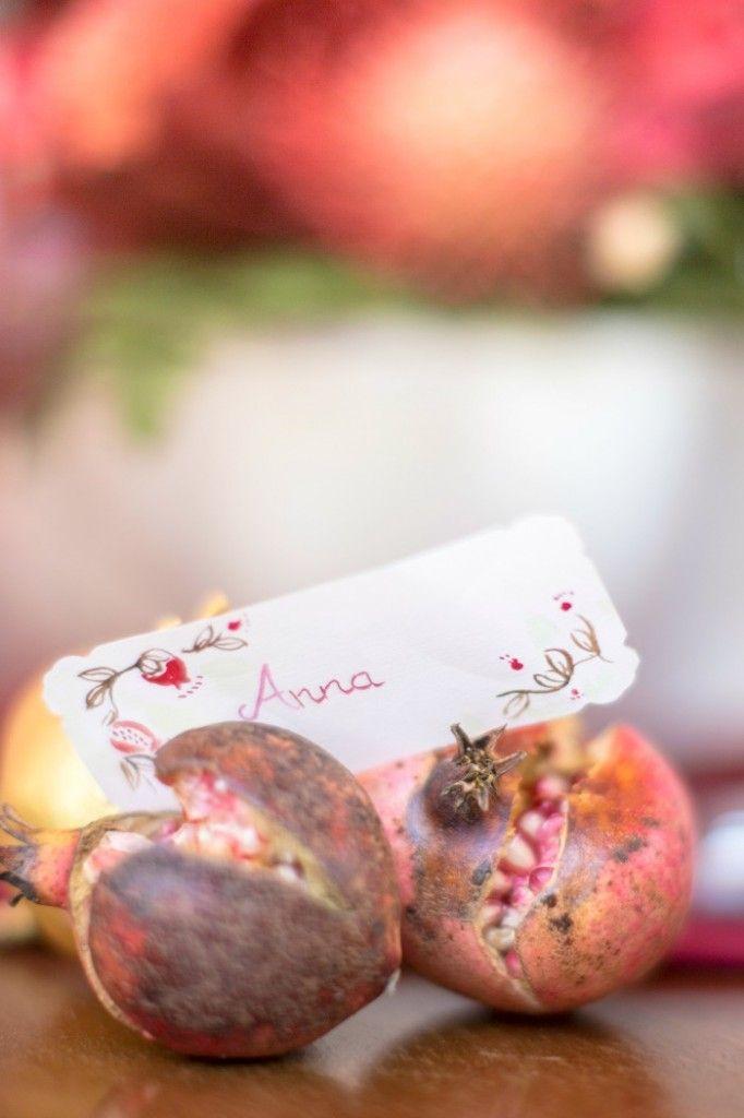 Matrimonio Autunno in Umbria - Melograno - Segnaposto