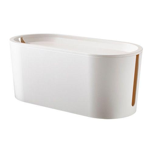 IKEA - ROMMA, ケーブルマネジメントボックス ふた付き,