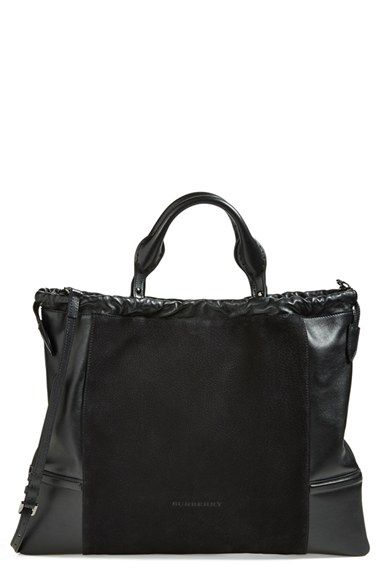 Free shipping and returns on Burberry 'Big Crush' Leather Tote at Nordstrom.com / It's bigger than I am, but I do love this bag!