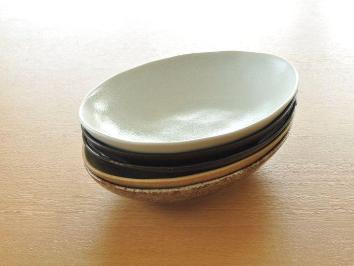 【美濃焼/日本製/食器/訳あり/アウトレット込み/カレー皿】。【送料無料】和食器 ナチュラルオーバルカレー皿&パスタ皿<5カラー> 各色1枚ずつセット