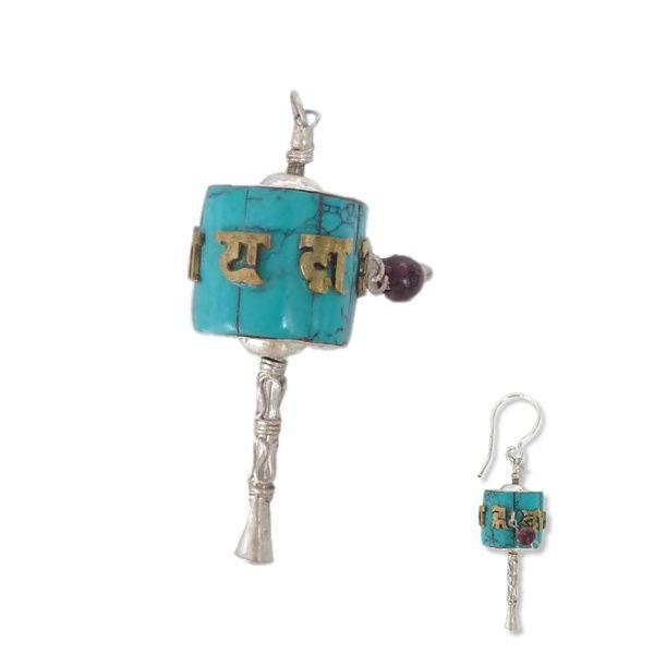Himalayan Treasure | Zilveren hanger, oorbel of bedel | Studio Art Style | Hanger | handmade | Nepal