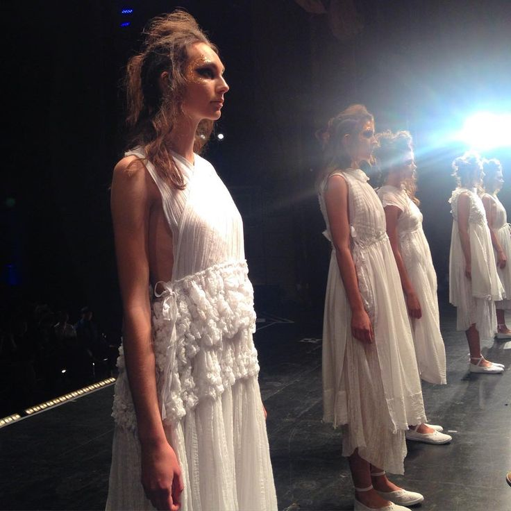"""""""So much fresh talent at the #AUTRookie show tonight - these looks are from student designer Ruby Davison"""""""