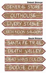 Western Sign Cutouts- Use same theme to make Derby Party