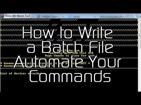 How to Write a Batch File - XDATV
