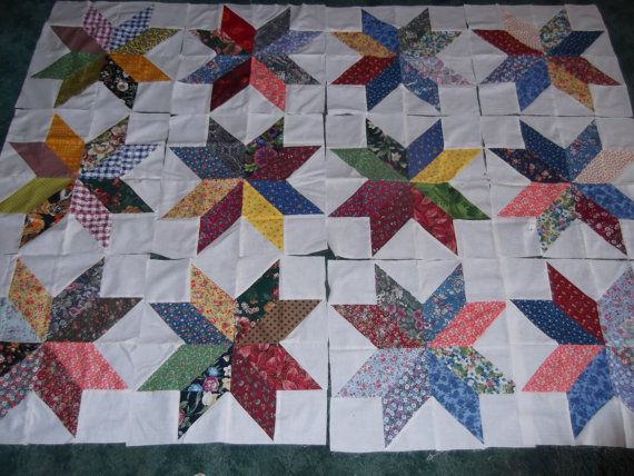 Quilt Patterns Using 12 Inch Squares : 17 Best images about LeMoyne Star on Pinterest Potholders, Traveling and Scrappy quilts