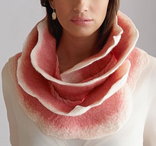 Silk & Wool Scarf created by Jenne Giles
