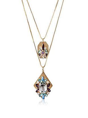 60% OFF Bijou Double Strand Pendant Crystal Necklace