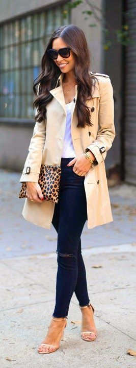 Leopard clutch & trench.