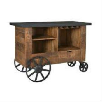 Coast to Coast Bar Trolley in Brown and Black