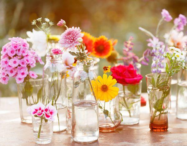 Pynt til konfirmation: Blomster i glas