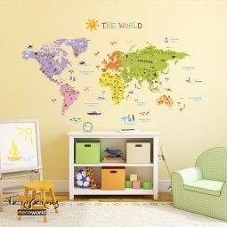 Stick644 Παιδικά Αυτοκόλλητα Μεγάλος Παγκόσμιος Χάρτης. Τιμή 35€