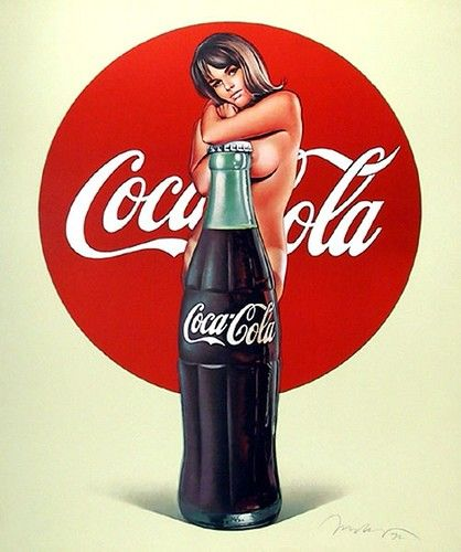 The classic, great and old publicity of the soda #CocaCola on posters world ♥