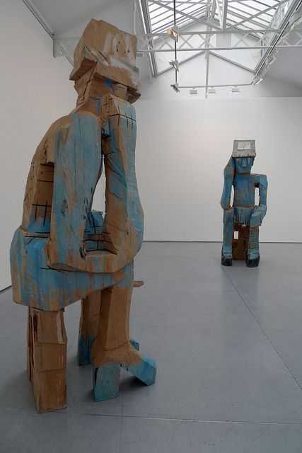 Georg Baselitz sculptures by cattoo, via Flickr