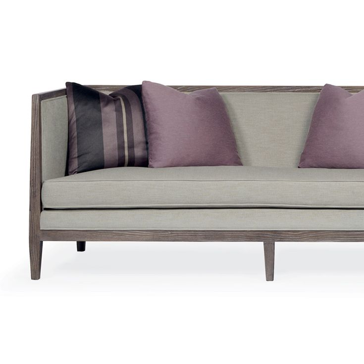 Elwood Sofa In Heather Grey And Purple