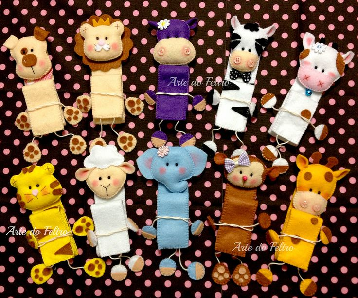 Игрушки из фетра от Arte do Feltro.