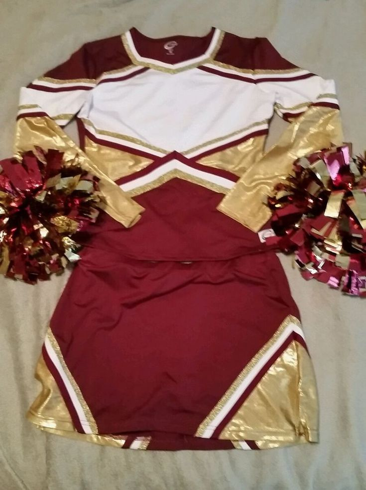 Chasse Cheerleading Uniform Adult size M-L #Chass - Do I DARE go as a WSU cheerleader???
