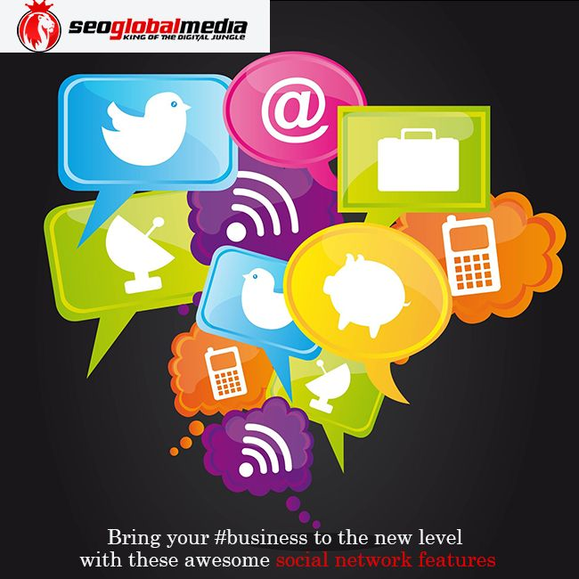 We can bring your #business to the new level with these awesome social network features http://goo.gl/G2cKCm
