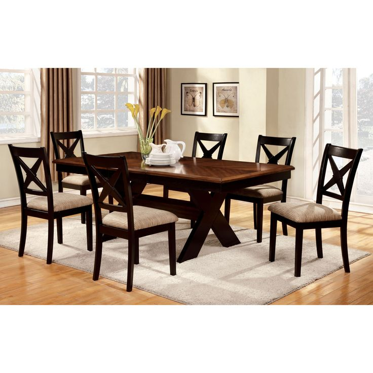 Furniture Of America Berthetta 9 Piece Dining Set With Leaf