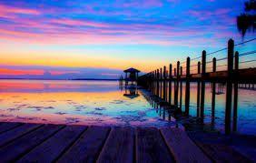 multi coloured sunset