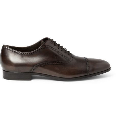 #Tod's Leather Oxford Brogues