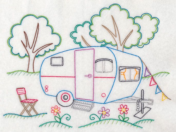 Camper's Paradise (Vintage) I've always wanted to learn how to embroider.