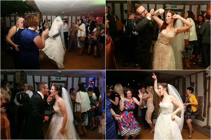 fun, natural wedding photography at wonderful autumnal wedding, Moreves barn, Suffolk.  Dancing to the band.