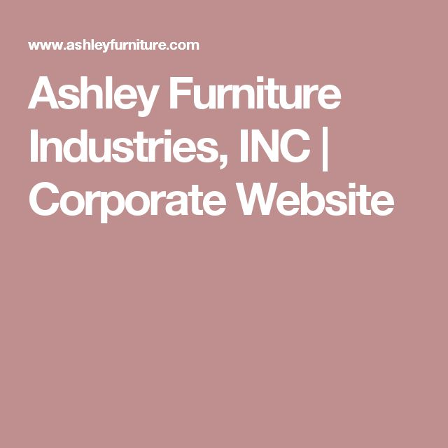 Ashley Furniture Manufacturing: 1000+ Ideas About Ashley Furniture Industries On Pinterest