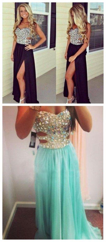Long Prom Dress ,Black Prom Dress,Sleeveless Prom Dress , Side Slit Prom Dress ,Chiffon Prom Dress,Formal Prom Dress,Party Dresses,Evening Dresses,PD0047