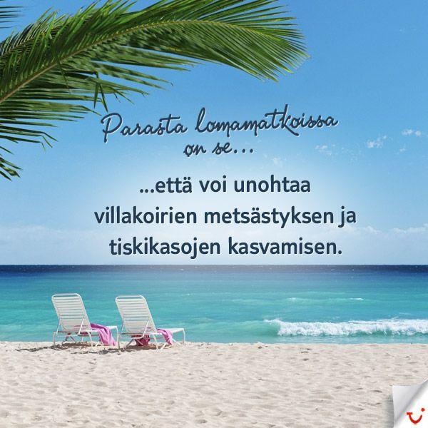 Karista pölyt jaloistasi :)  http://www.finnmatkat.fi # Finnmatkat