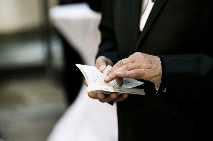 A picture of the mass booklet used for the ceremony