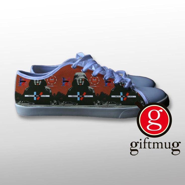 Twenty One Pilots Cover Art Canvas Shoes #shoes #21pilots #twenty #one #pilots #gift #cover #logo