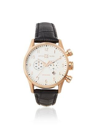 Officina del Tempo Men's OT1033/130AGN Style Black/White Chronograph Watch