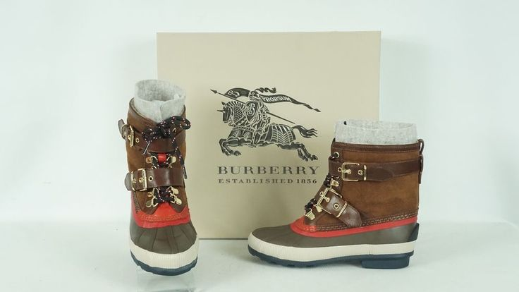 Burberry Windmere Weather Shearling Duck Boots US 7B 37 NIB $595  #Burberry #AnkleBoots #Casual