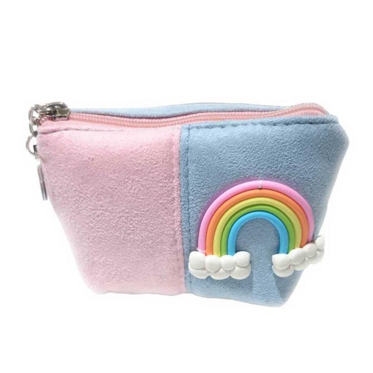 Banned Riro regenboog pastel portemonnee roze/blauw - Banned | Attitud