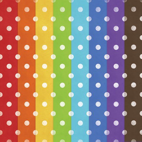 Free Printable Polka Dot Rainbow Papers — DigitalCardFun.com