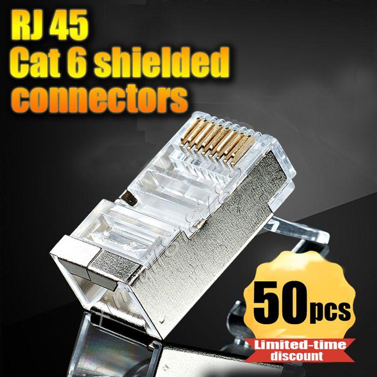17 best ideas about cat6 kabel ladekabel büro 50pcs lot rj45 connector cat6 shielded network connectors rj45 plug terminals for stp ethernet cable
