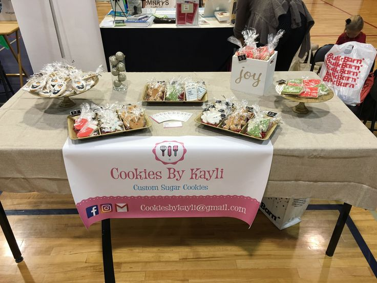 The Cookies By Kayli table at the  Niagara Natural Family Expo - December 2016