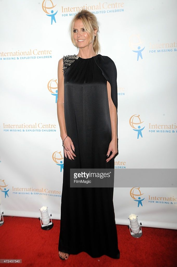Model Heidi Klum attends the International Centre for Missing & Exploited Children's Inaugural Gala at Gotham Hall on May 7, 2015 in New York City.