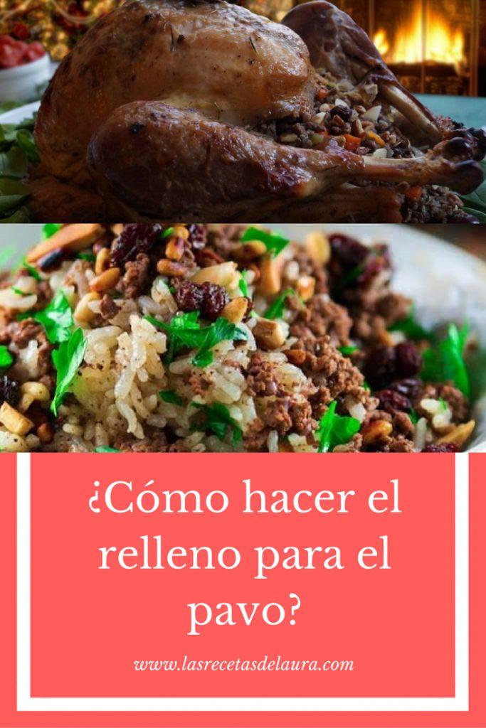 Relleno de Pavo con Carne y Frutos Secos Receta Saludable Facil y rapida para toda la familia