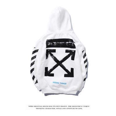 Off White Supreme Hoodie Virgil Abloh Pyrex Vision Street Wear Jumper  Sweatshirt d002b48119874