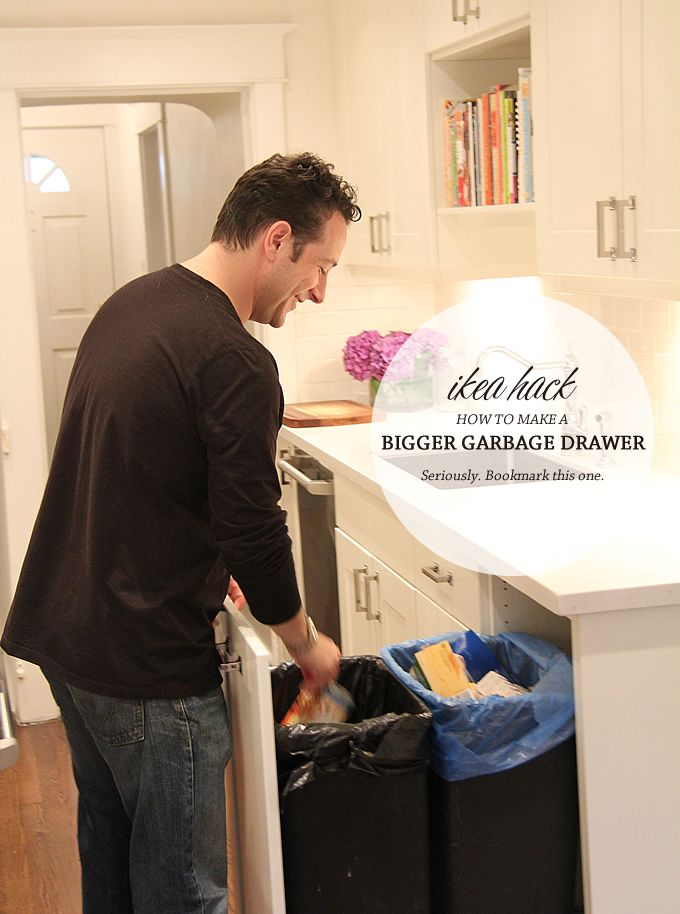 Aubrey & Lindsay's Little House Blog: Ikea Hack, Trash Pullout