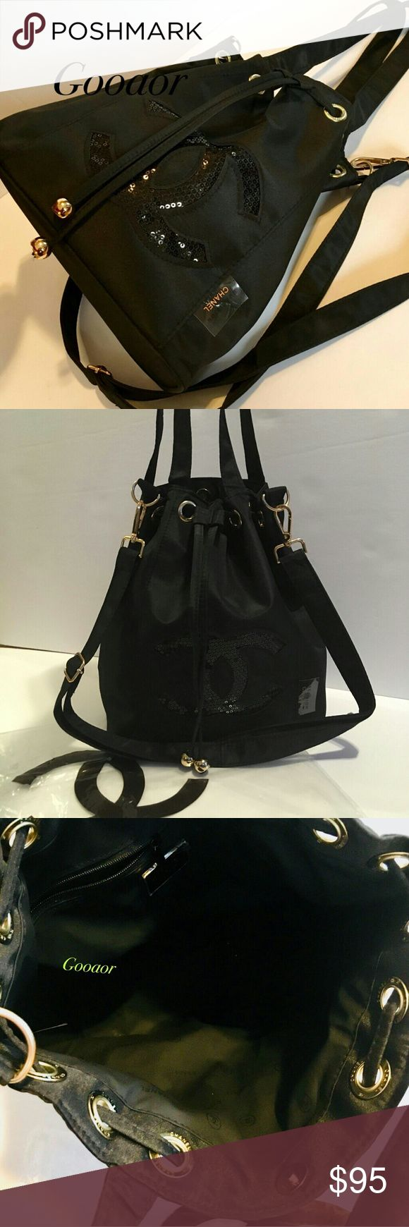 Authentic vip gift precision bucket shoulder bag Chanel
