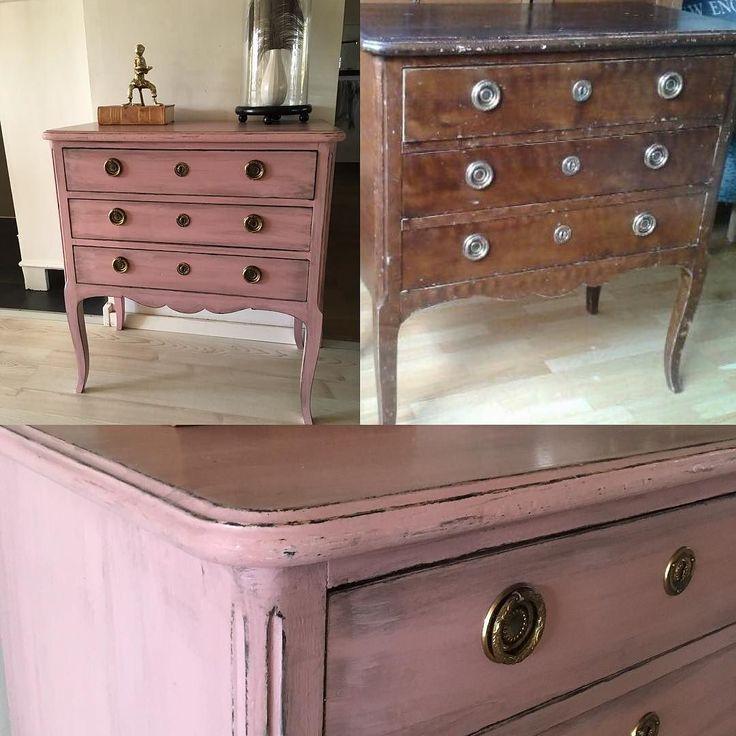 Kolla in @pandurohobby.se pysselutmaning!! #pysselutmaningmaj #återbruk #remake #pandurovintagepaint #färg #måla #byrå #vintage #pink #rosa #vintagepaint #interior #interiör #interiordetails #inredning #inredningsdetaljer #byrå #furniture #furnitureredo #återbruk #möbler by liloli_design